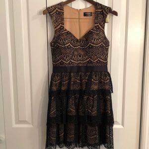 Guess size 8 black lace dress w/ light padded bust